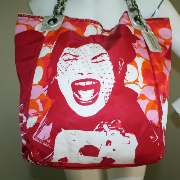 Coach Handbags - Coach Parker Bag Girl Laughing XL Tote 13405